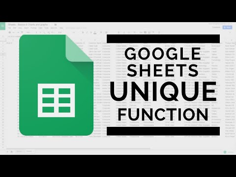 Google Sheets - Remove Duplicate Data with the UNIQUE Function