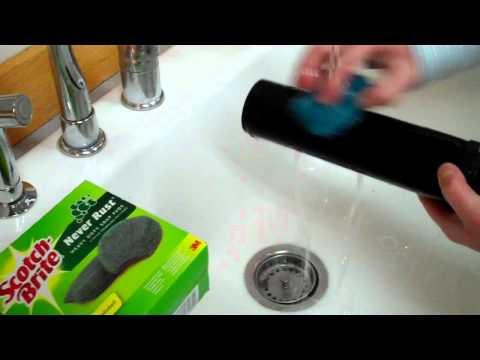 cleaning a black berkey filter