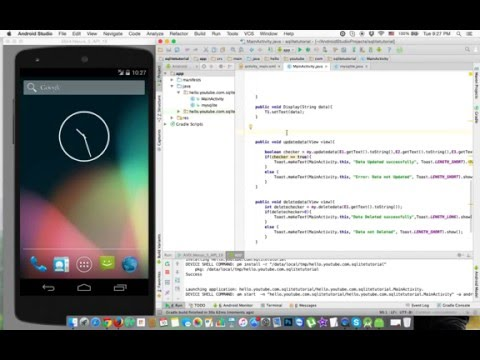 Bangla Android Tutorial 21: SQLite Database Tutorial (Delete Data)
