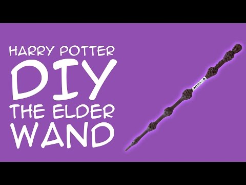 Harry Potter Craft The Elder Wand DIY: (For Harry Potter Fans) Crafty McFangirl Tutorial