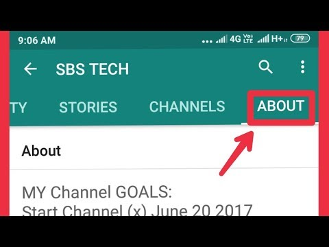 How To Type YouTube Channel About Option