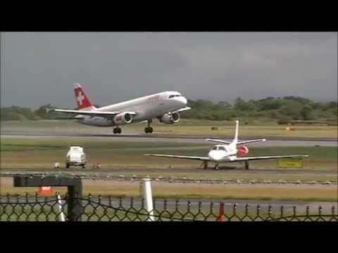 Various Aircraft at Manchester Airport