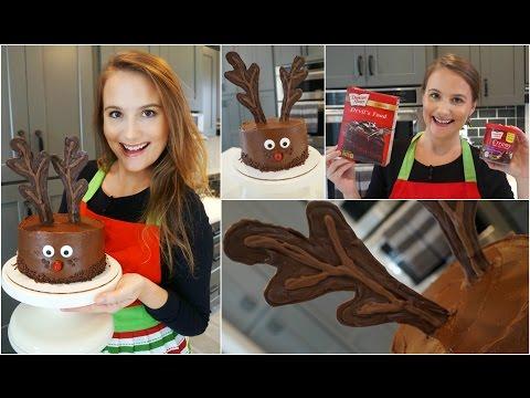 Easy Reindeer Cake