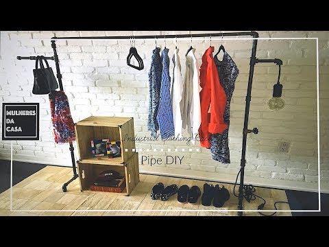 DIY Industrial Pipe Clothing Rack