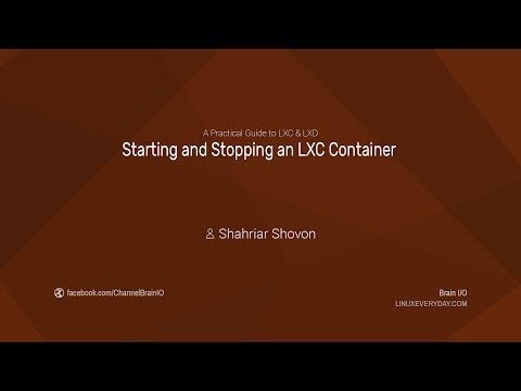 08. Starting and Stopping an LXC Container