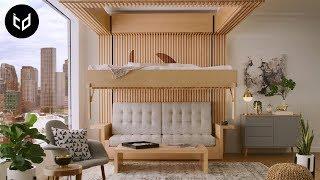 INCREDIBLE Space Saving Furniture - Murphy Bed Ideas