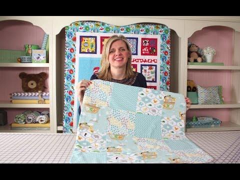 How to Make a Quick & Simple Receiving Blanket DIY Tutorial - Fat Quarter Shop