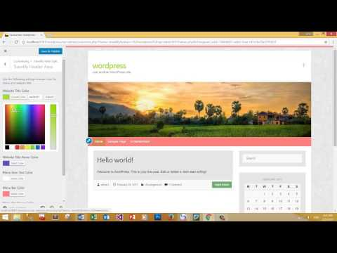 how to change menu color in wordpress theme - learning website part4