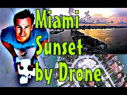 Drone Sunset San Marino Island Miami Beach Florida
