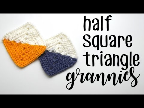 Crochet Half Square Triangle Granny Square Left Handed
