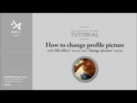 How to replace resume profile photo in MS Word #8 of 11 @ Replacing profile picture