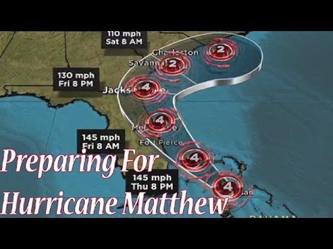 Vlog #1 -  Preparing for Hurricane Matthew / Simply Easy DIY