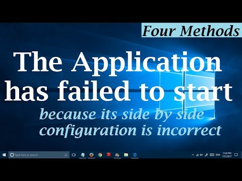 (4 Methods) The Application has failed to start because its side by side configuration is incorrect