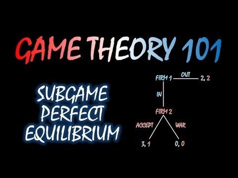 Game Theory 101  MOOC (#16): Subgame Perfect Equilibrium
