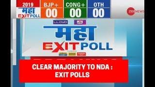 Download Maha Exit Poll 2019: Exit polls predict clear majority for PM Modi-led NDA Video