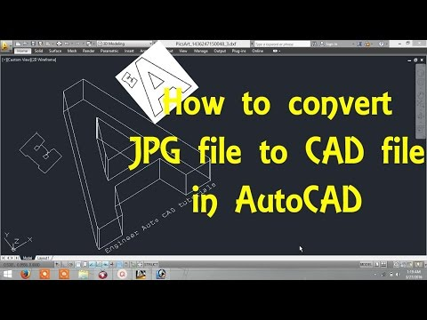 How to convert Image file (jpg file) to CAD file in AutoCAD By Engineer AutoCAD Tutorials