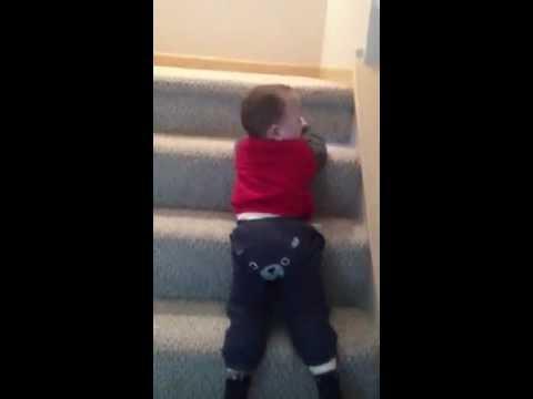 Boen Crawls Down Stairs