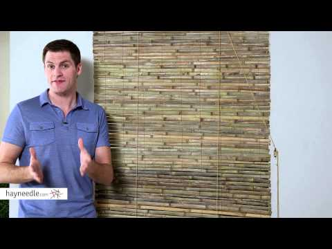 Radiance Laguna Woven Indoor/Outdoor Wood Bamboo Roll-Up Shade - Product Review Video