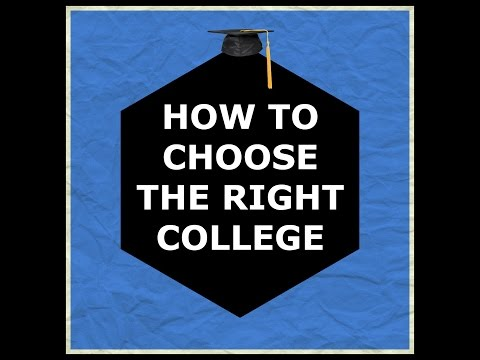 HOW TO CHOOSE THE RIGHT COLLEGE
