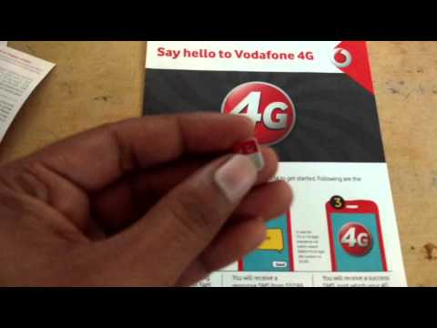 How to get Vodafone 4G sim at ur door step