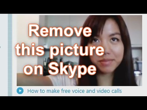 How to remove the picture of the lady on the skype home page  - FIX -