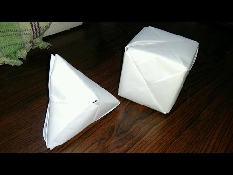 !MUSTWATCH ! how to make a paper cube and cone.