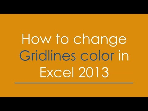 How to Change Grid line Colour in Excel 2013