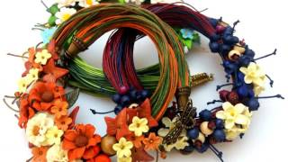 Handmade floral jewelry