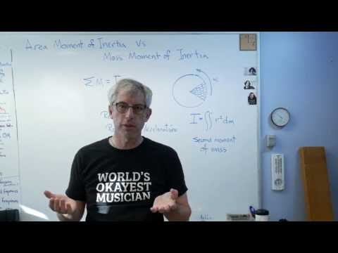 Area Moment of Inertia and Mass Moment of Inertia - Brain Waves