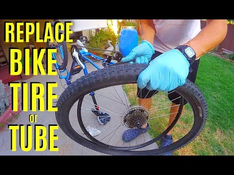How To Remove & Replace Bicycle Tire & Tube -Jonny DIY