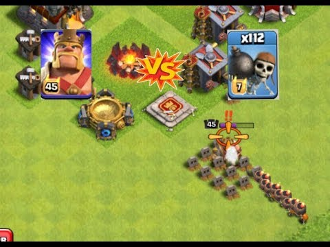 OMG!!! 112 max level Wall Breakers attack on a no Wall Base - Clash of Clans 2018