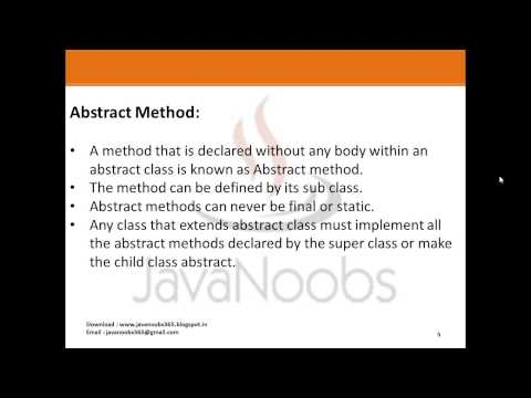 Object Oriented Programming - Q 10) Abstract Class