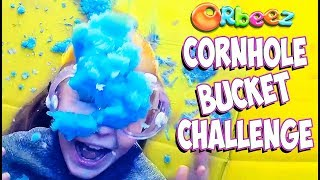 GIANT Orbeez Crush Cornhole Challenge!   Official Orbeez