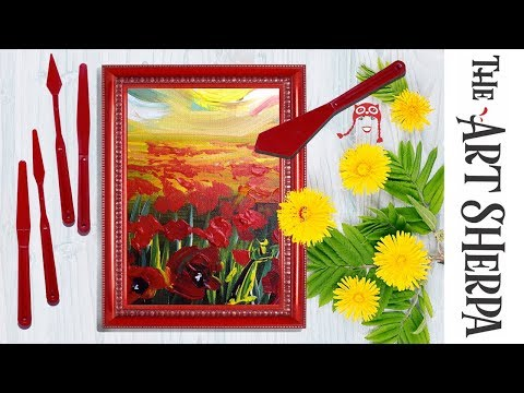 Art Sherpa RED Artist and Pallet Knives New Art Product Announcement #artsherpa #silverbrushlimited
