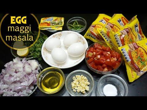 EGG MAGGI MASALA RECIPE    अंडा  मेग्गी  मसाला   STREET STYLE MEGGI