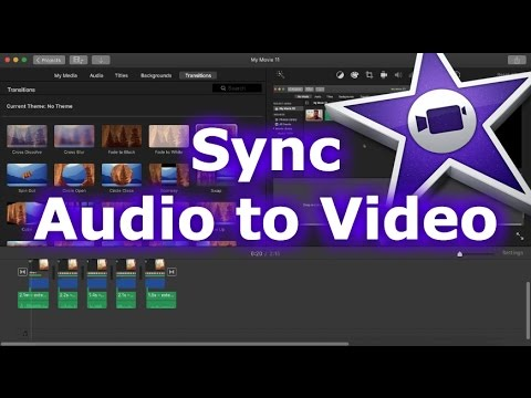 How To Sync Audio to Video in iMovie 11