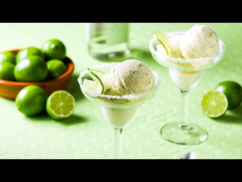 Margarita Ice Cream with Tequila