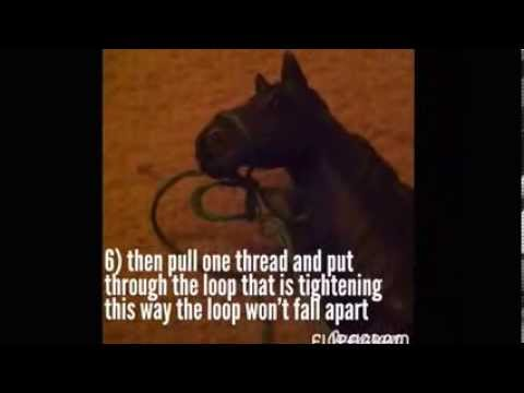 How to make a model horse rope halter - breyer and schleich realistic tack - Butter Cup Stables