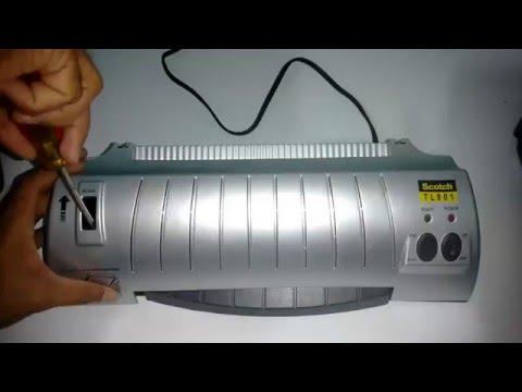 Scotch TL902 laminator jammed sheet, como sacar lamina atascada