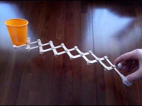 Wow! Robotic Scissor Arm from Popsicle Sticks
