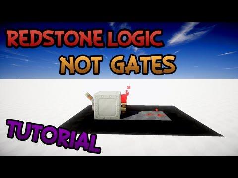Minecraft: Redstone Logic - NOT Gates (HD 60fps)