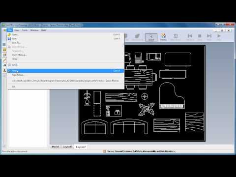Convert DWG to PDF using SolidWorks eDrawings