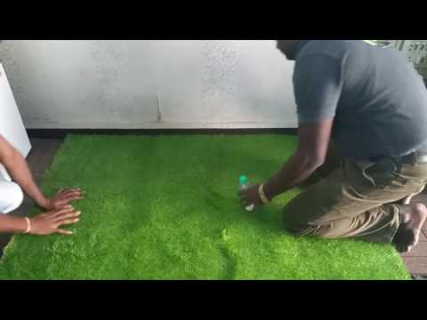 How to Install Artificial Lawn / Turf Grass in India