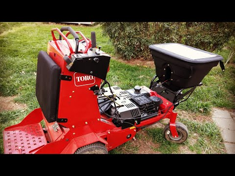 New Toro Stand On Aerator With Spreader Attachment