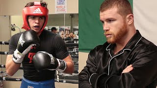 EXCLUSIVE: CANELO WATCHES RYAN GARCIA DO HIS MOVE IN SPARRING & GIGGLES - LITTLE GIANT BOXING