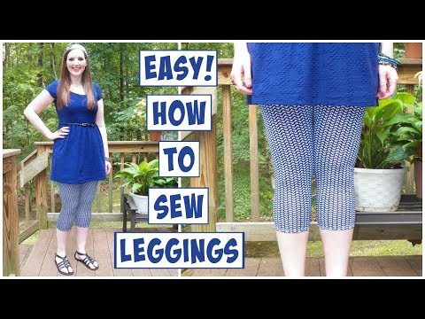 How to Sew Leggings Easy | No Pattern Needed! | DIY Sewing for Beginners