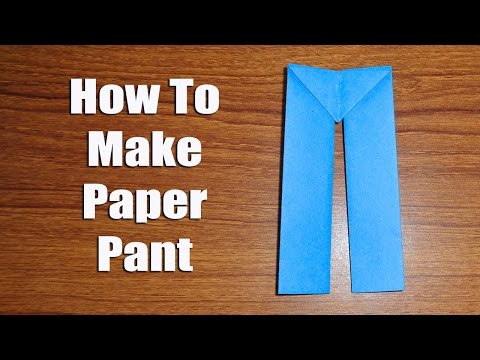 How to Make Paper Pants - Easy Origami Crafts.