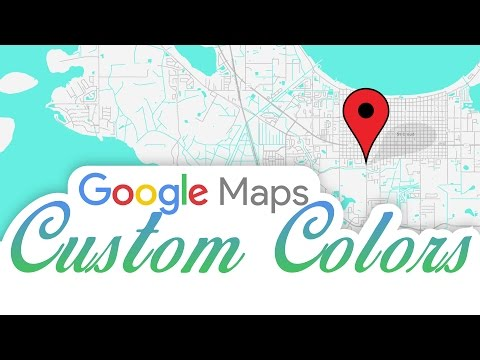 Google Maps Custom Colors in HTML And WordPress