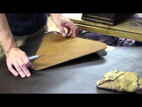 Campaign Stool Leatherwork