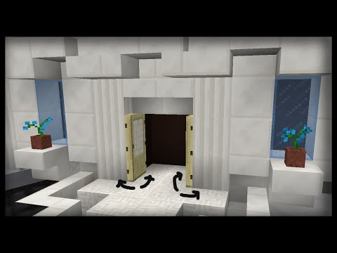 Minecraft: How to make working automatic doors